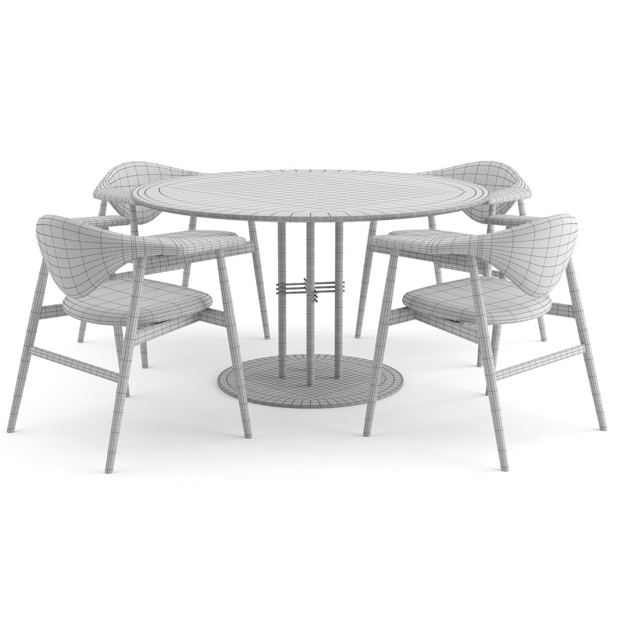 Masculo Chair + TS Table by GUBI royalty-free 3d model - Preview no. 6