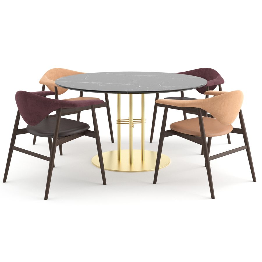 Masculo Chair + TS Table by GUBI royalty-free 3d model - Preview no. 1
