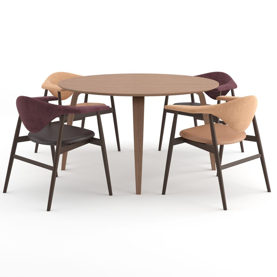 Masculo Chair + TS Table by GUBI royalty-free 3d model - Preview no. 3