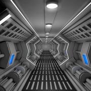 Sci Fi korridor 3d model