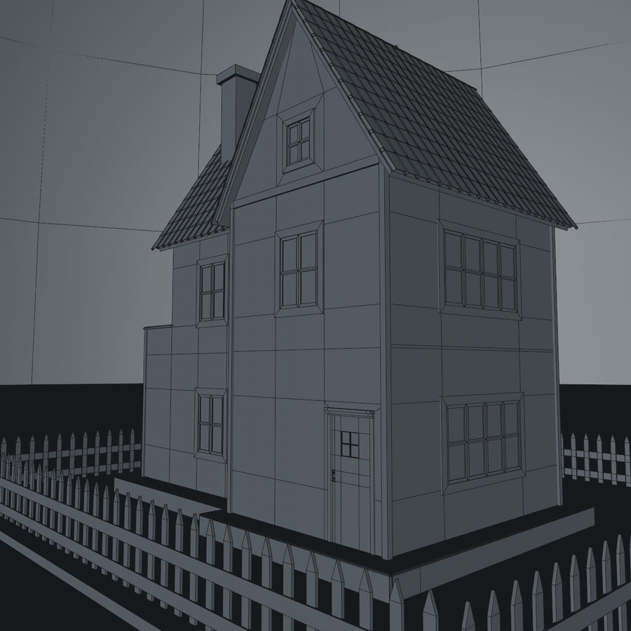 Karikatür evi royalty-free 3d model - Preview no. 19