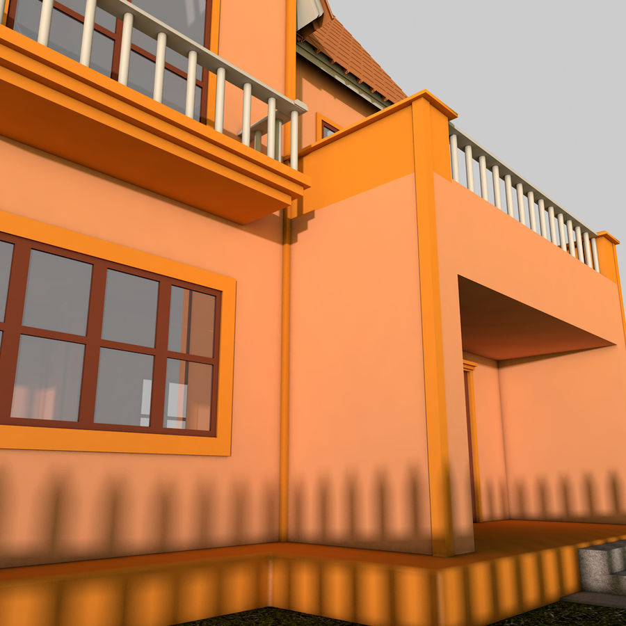 Karikatür evi royalty-free 3d model - Preview no. 10