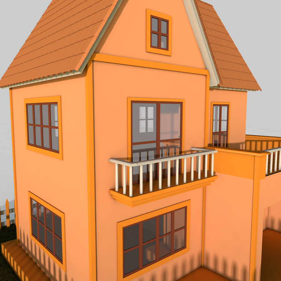 Karikatür evi royalty-free 3d model - Preview no. 7