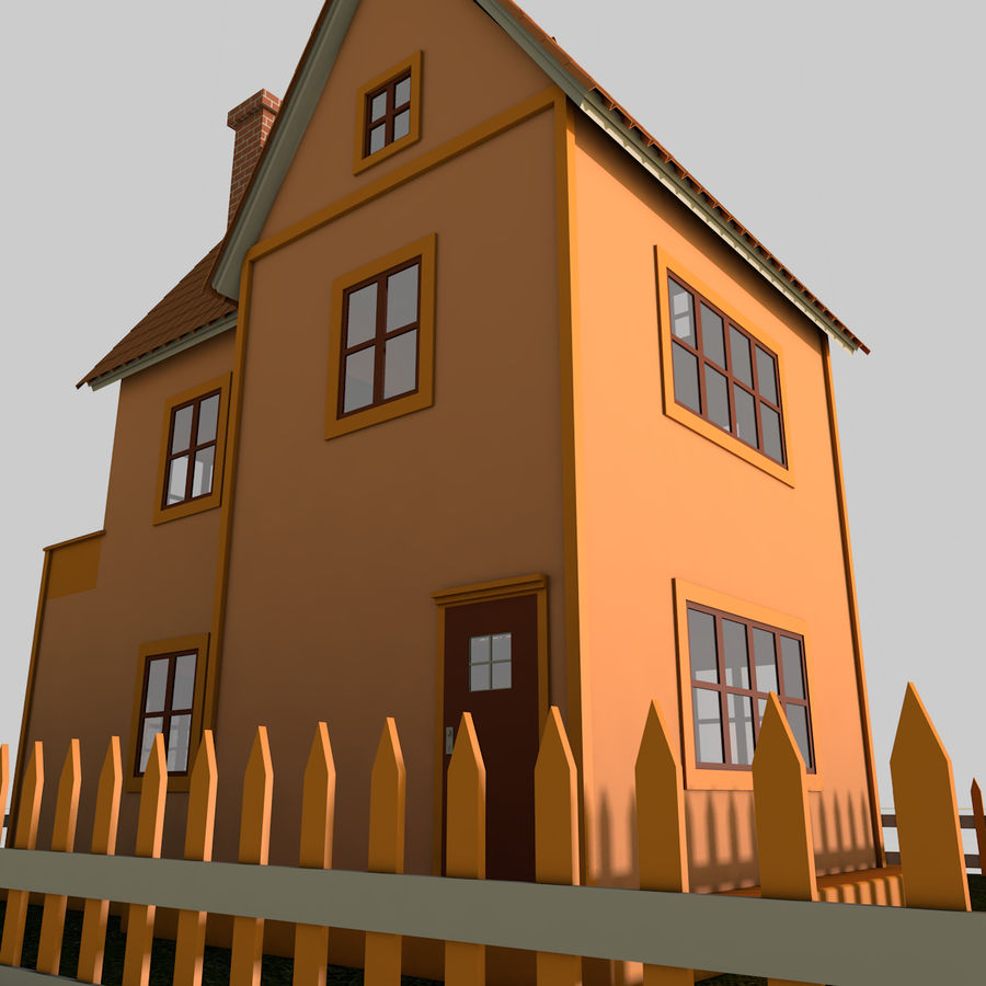 Karikatür evi royalty-free 3d model - Preview no. 13