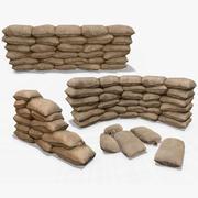 Collection de sacs de sable 3d model