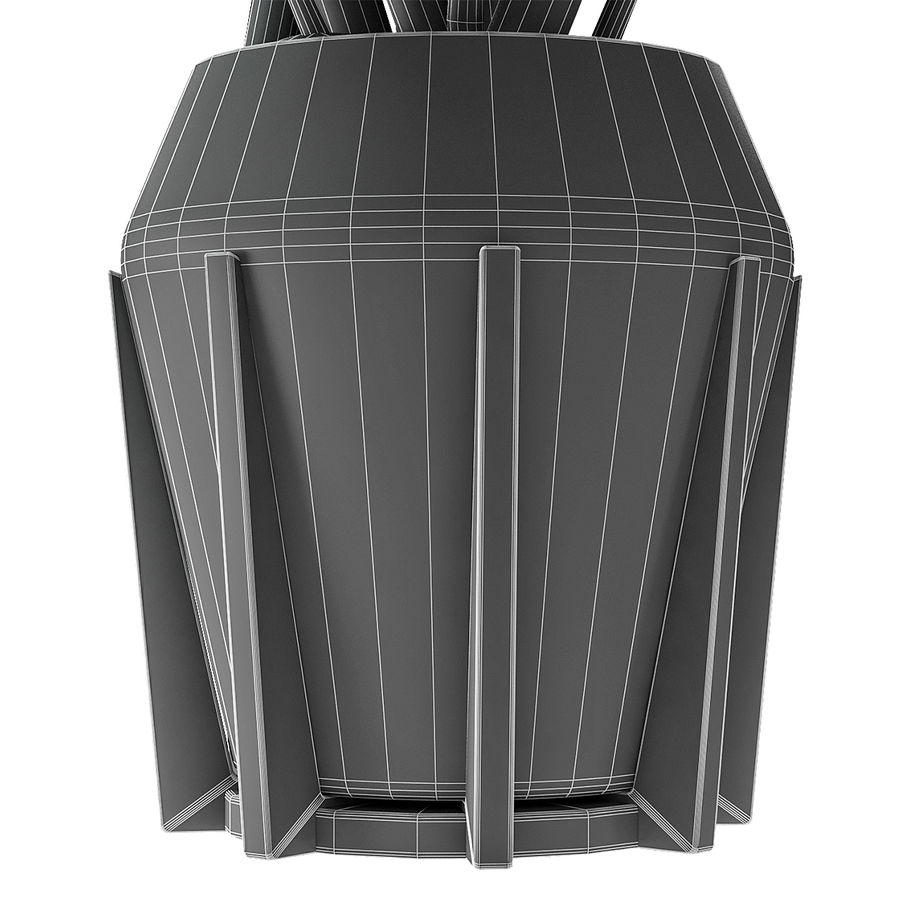 盆栽花盆中的植物异国植物 royalty-free 3d model - Preview no. 9