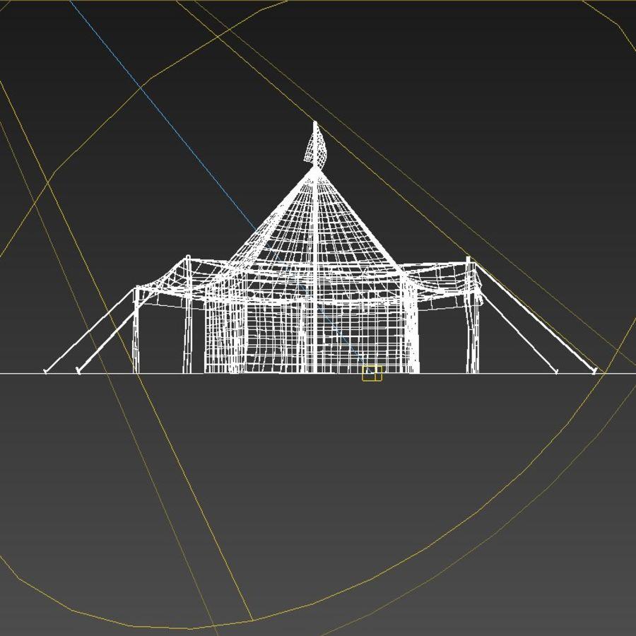 Tente arabe royalty-free 3d model - Preview no. 6