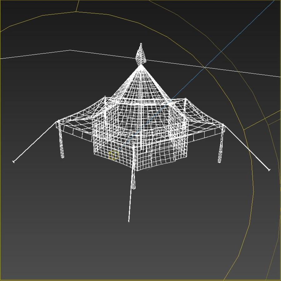 Tente arabe royalty-free 3d model - Preview no. 5