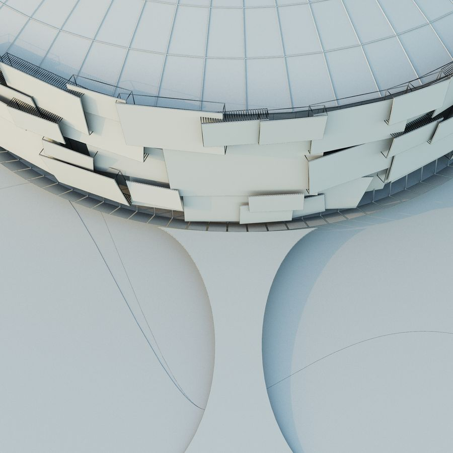 Stadium 05 royalty-free 3d model - Preview no. 9