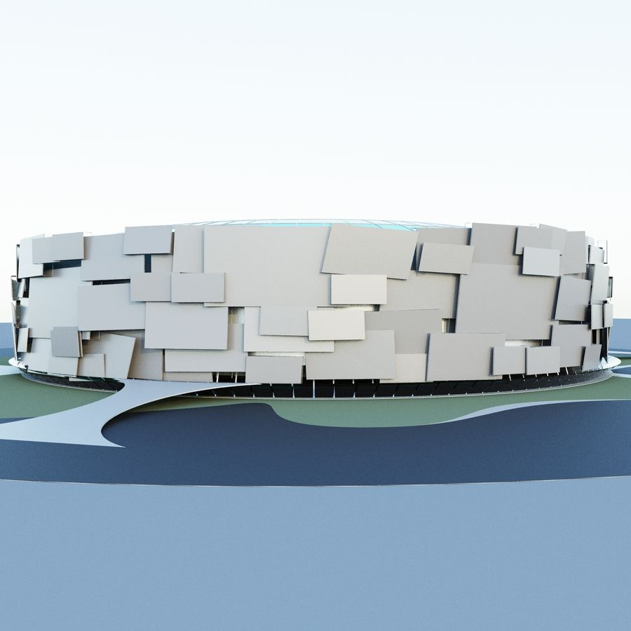Stadium 05 royalty-free 3d model - Preview no. 5