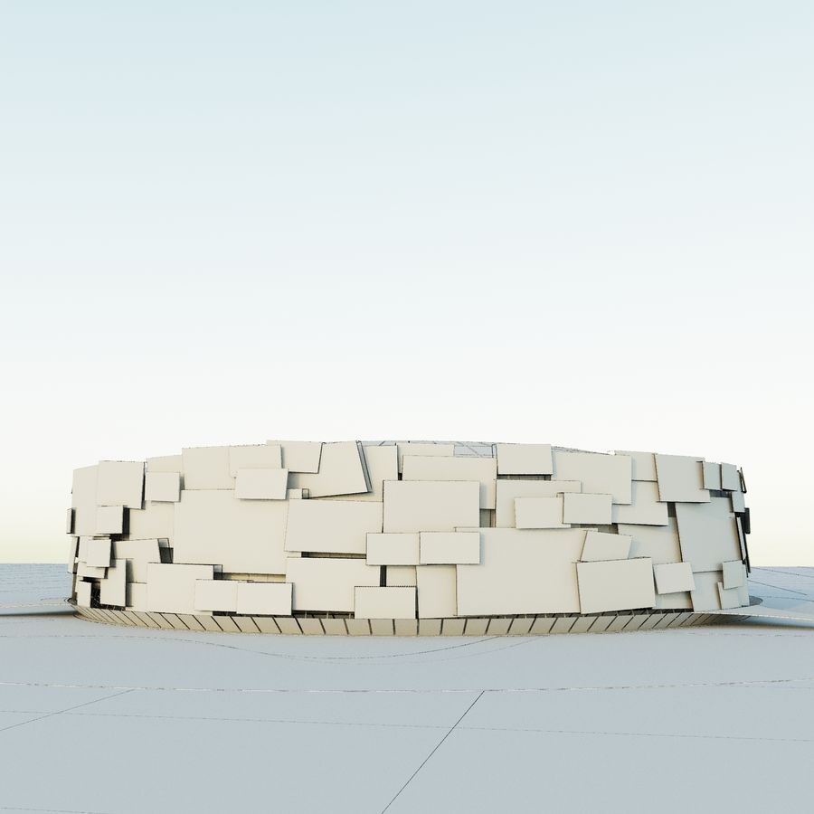 Stadium 05 royalty-free 3d model - Preview no. 7