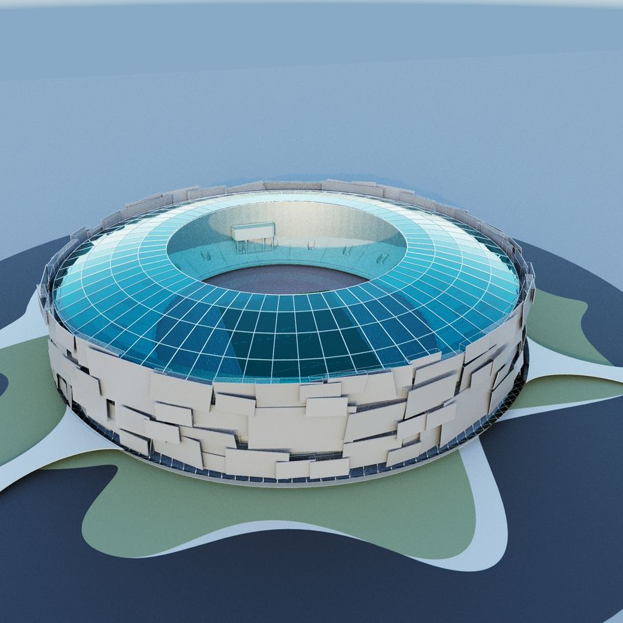 Stadium 05 royalty-free 3d model - Preview no. 2