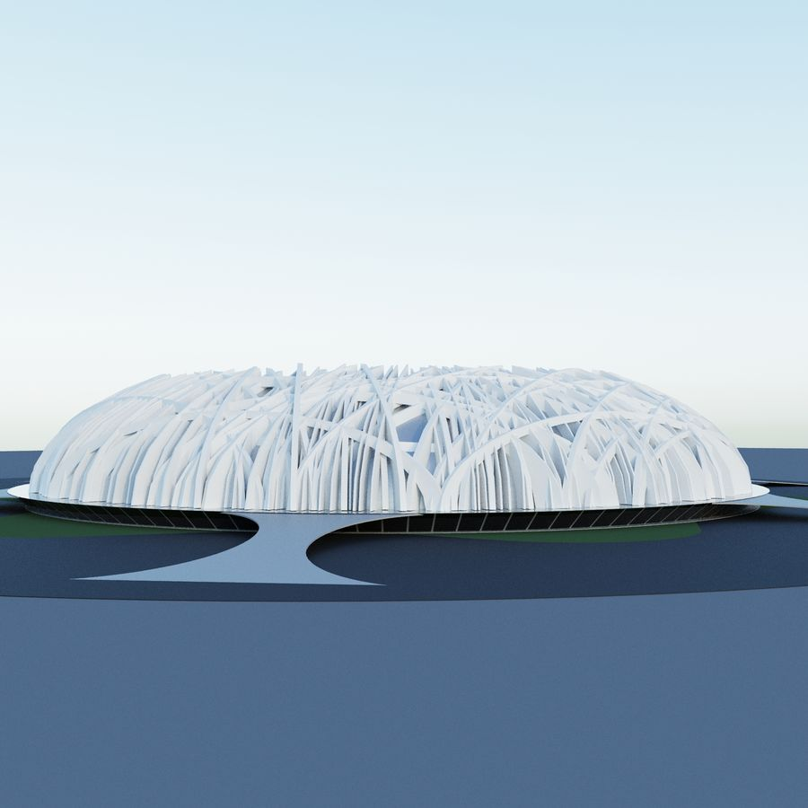 Stadium 01 royalty-free 3d model - Preview no. 5