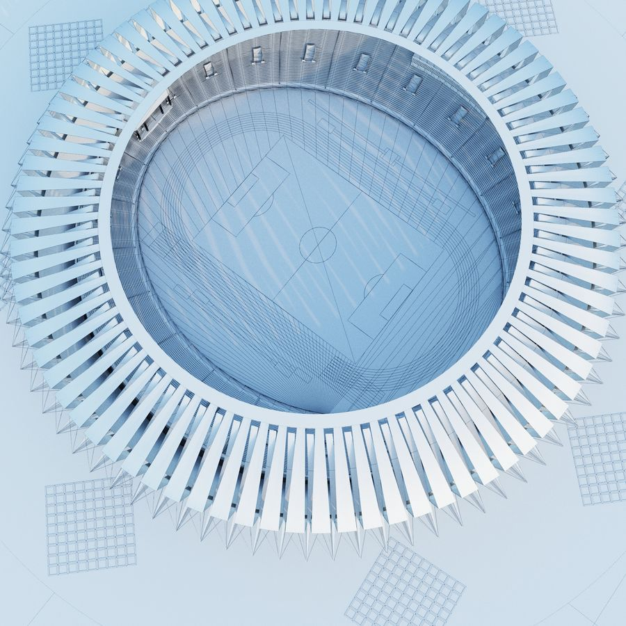 Stadion 02 royalty-free 3d model - Preview no. 8