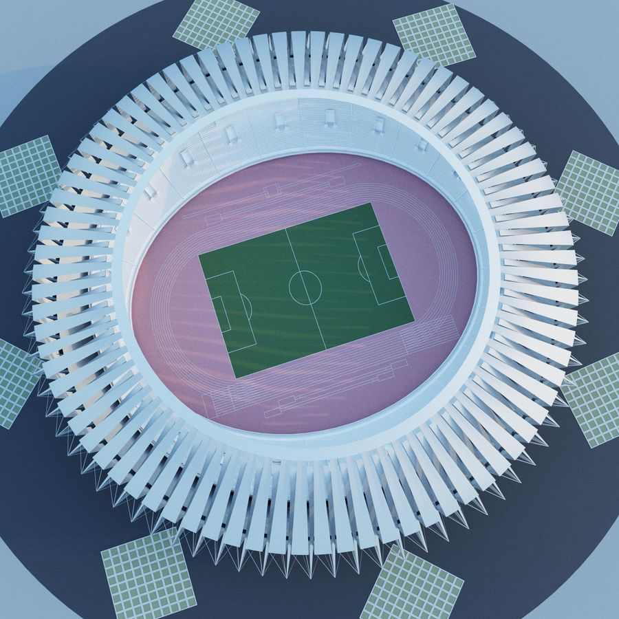 Stadion 02 royalty-free 3d model - Preview no. 5