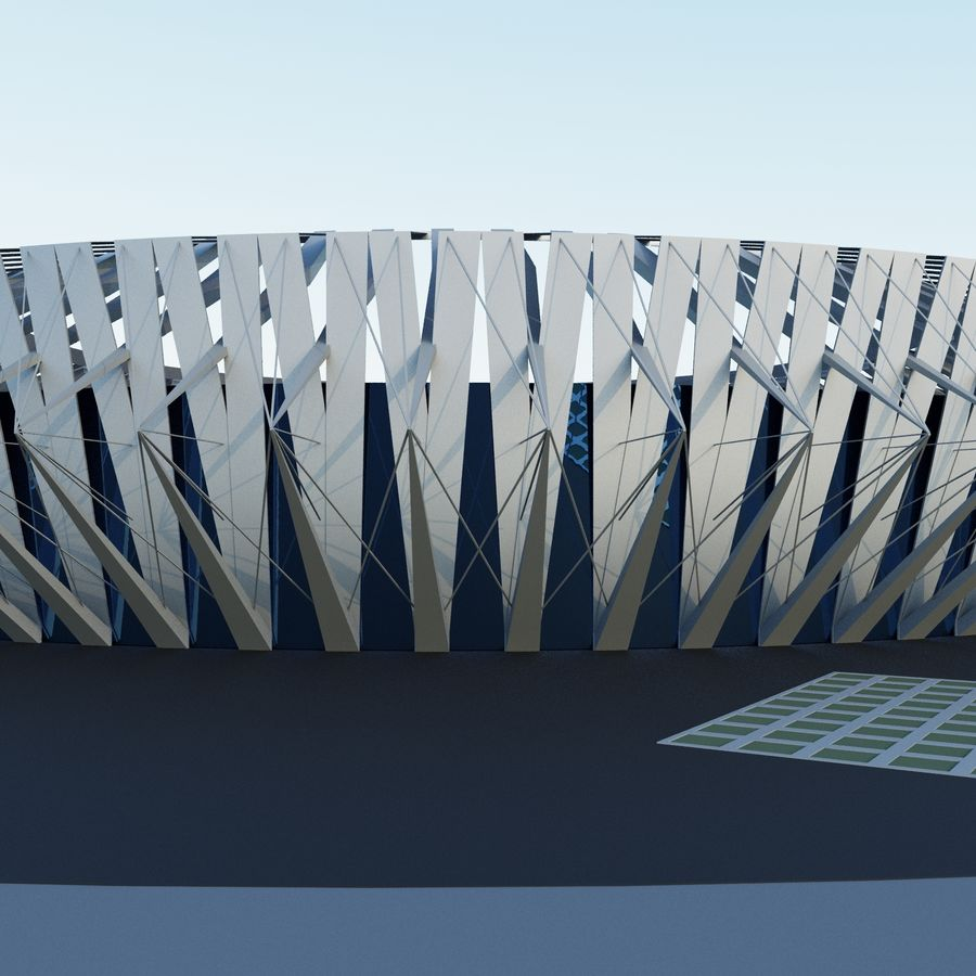 Stadion 02 royalty-free 3d model - Preview no. 2