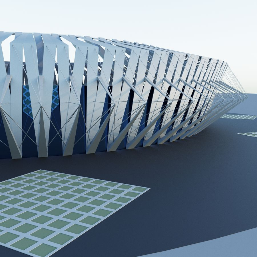 Stadion 02 royalty-free 3d model - Preview no. 3
