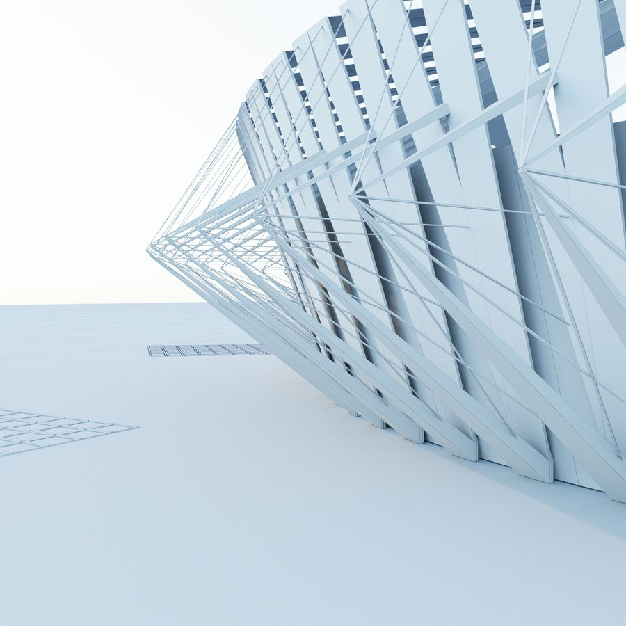 Stadion 02 royalty-free 3d model - Preview no. 7