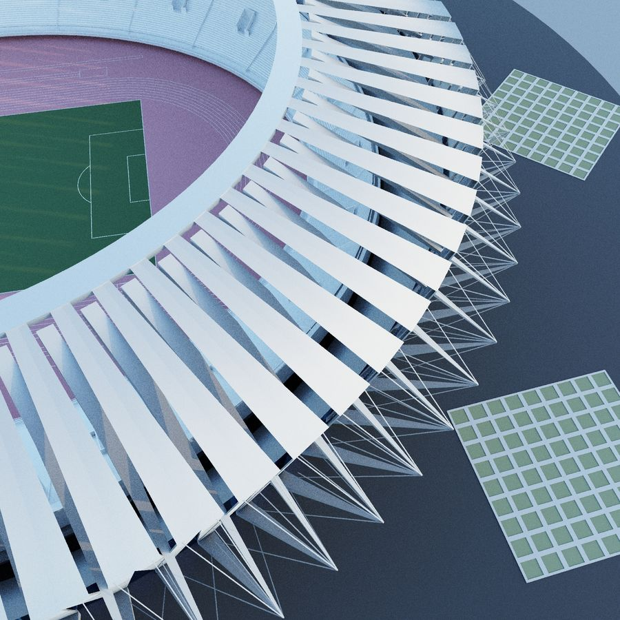 Stadion 02 royalty-free 3d model - Preview no. 4
