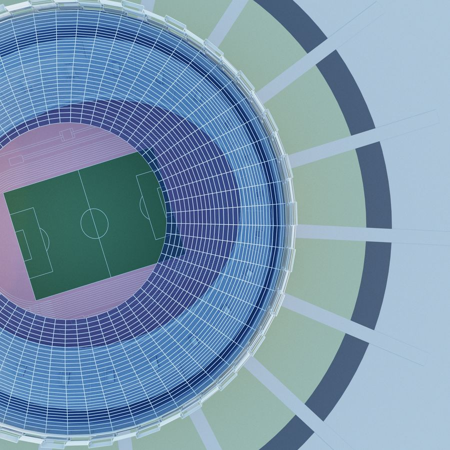Stadium 06 royalty-free 3d model - Preview no. 2