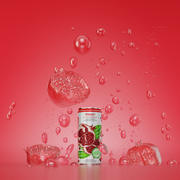 Can bottle scene pomegranate 3d model