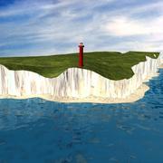 Britse kustlijn 3d model