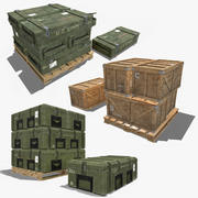 Military Crate Pack 3d model