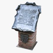 Scanned Memorial Plaque 01 3d model