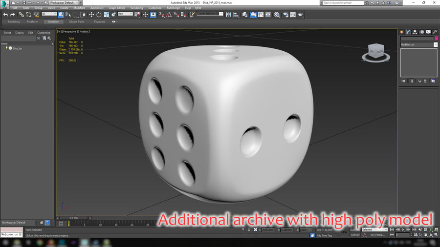 Dice royalty-free 3d model - Preview no. 32