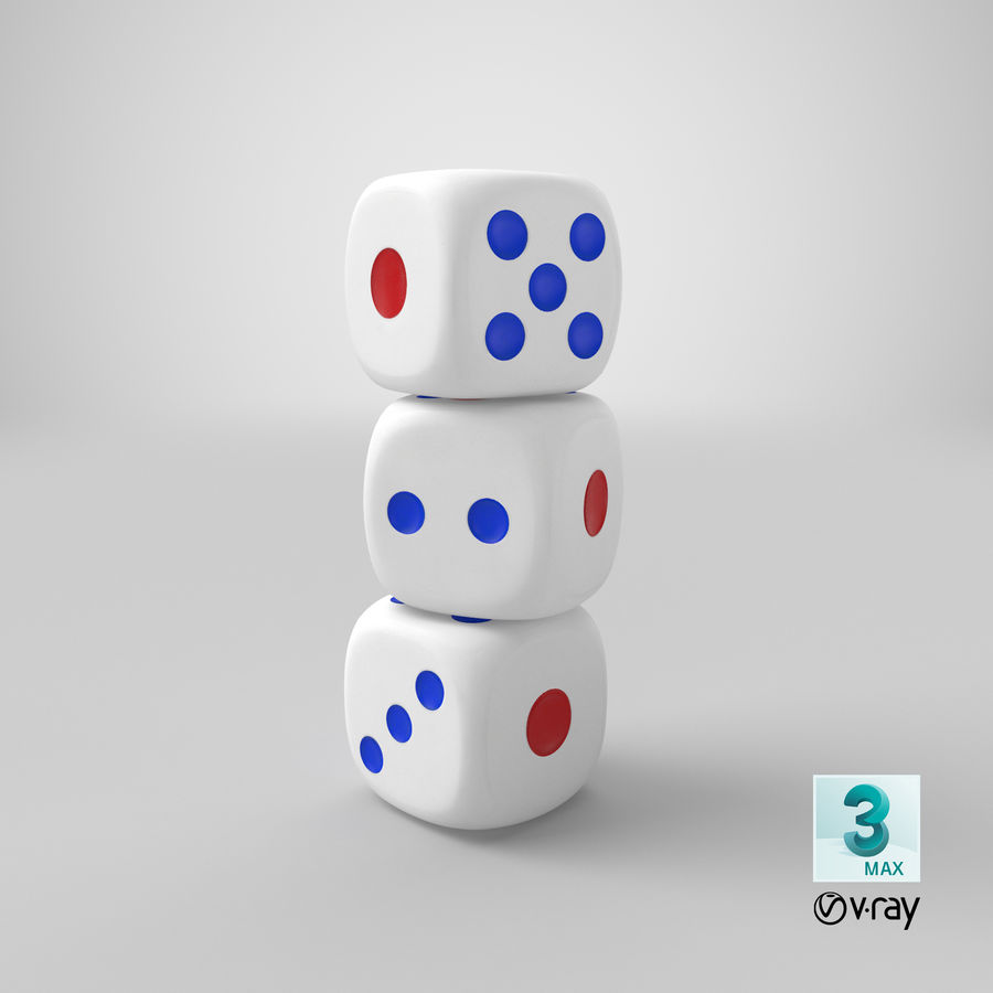 Dice royalty-free 3d model - Preview no. 27