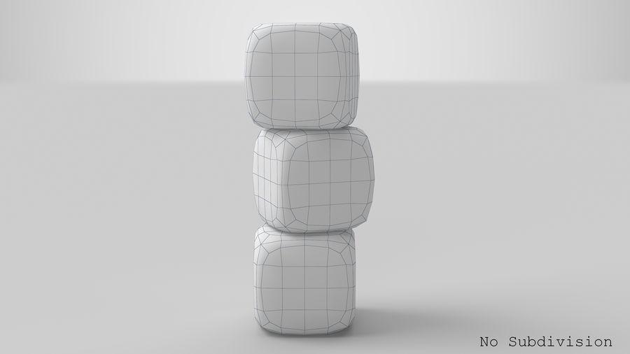 サイコロ royalty-free 3d model - Preview no. 11