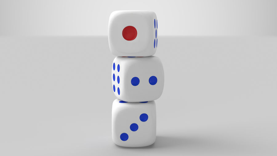 Dice royalty-free 3d model - Preview no. 5