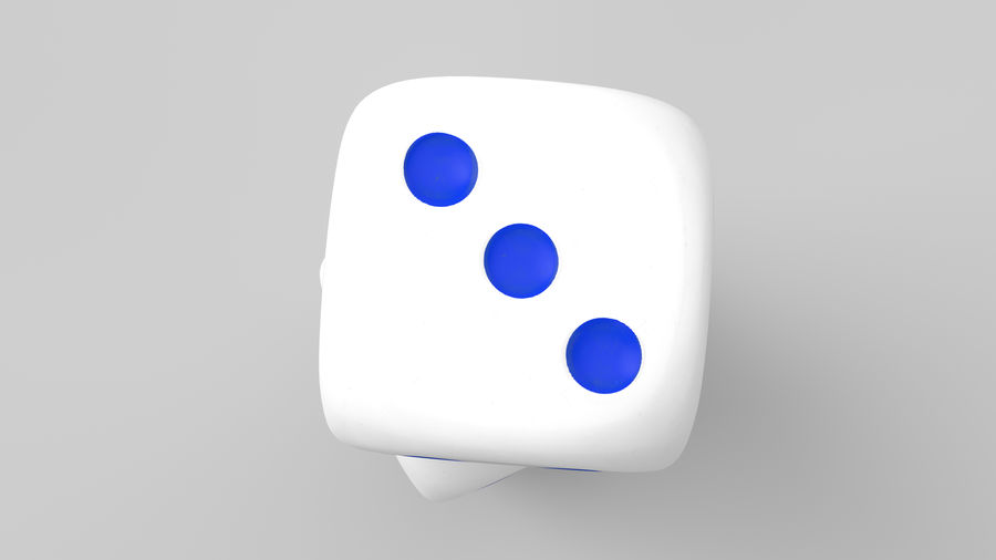 Dice royalty-free 3d model - Preview no. 10