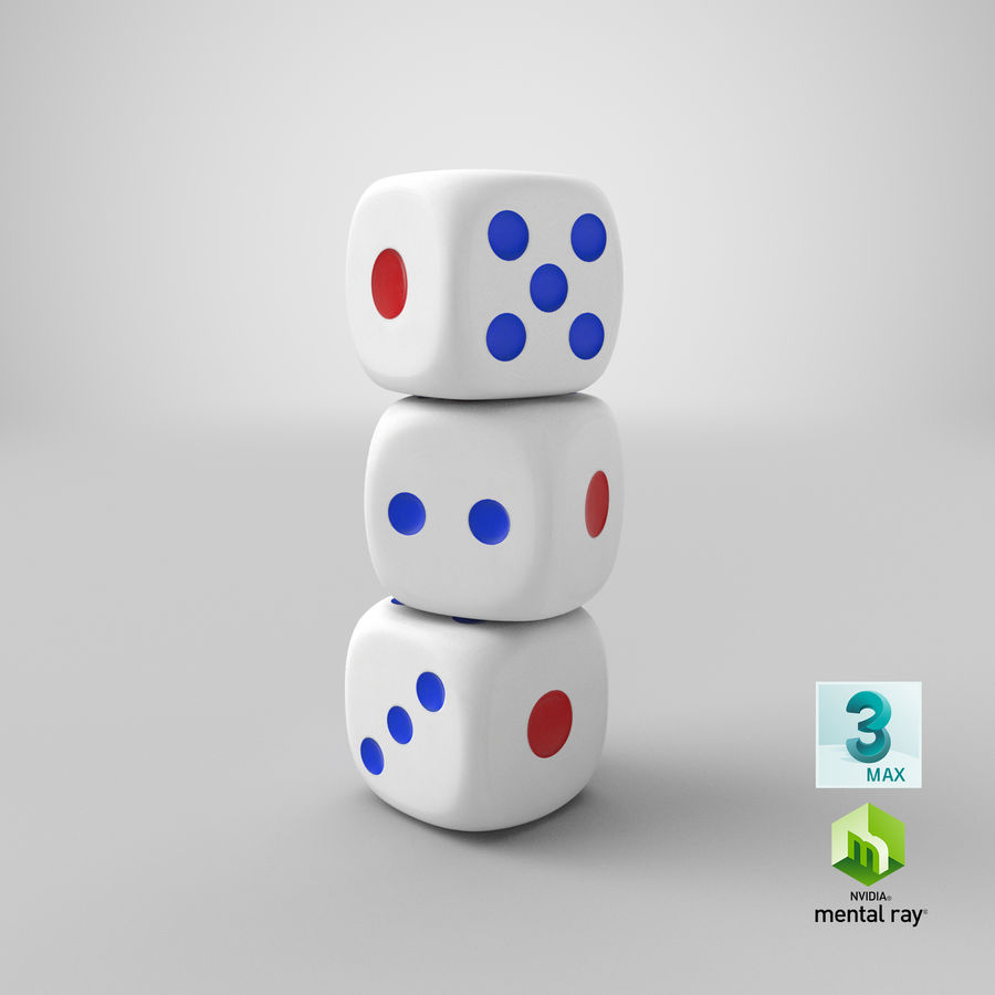 Dice royalty-free 3d model - Preview no. 26
