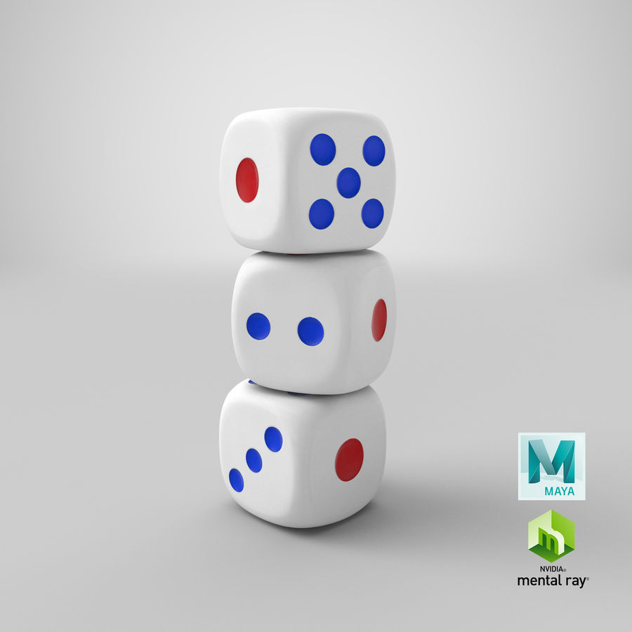 Dice royalty-free 3d model - Preview no. 28