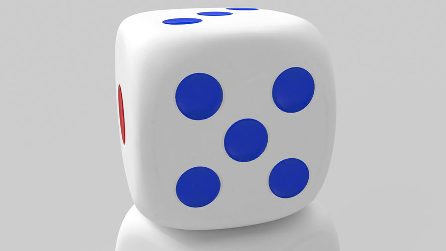 Dice royalty-free 3d model - Preview no. 7