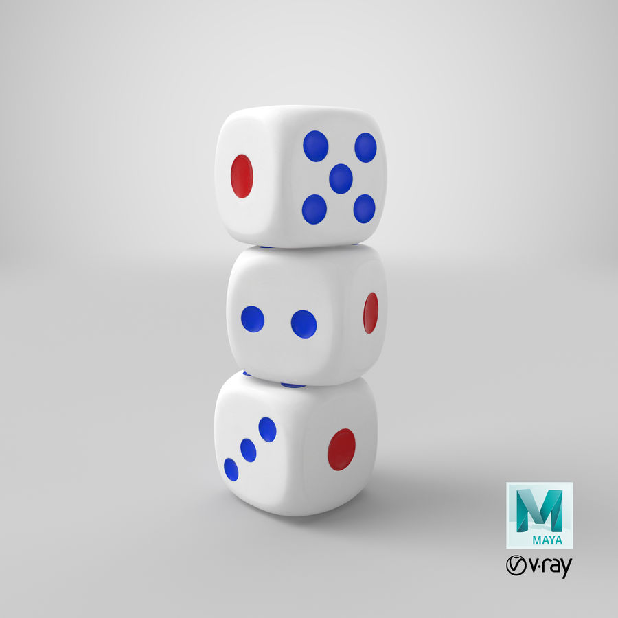 Dice royalty-free 3d model - Preview no. 29