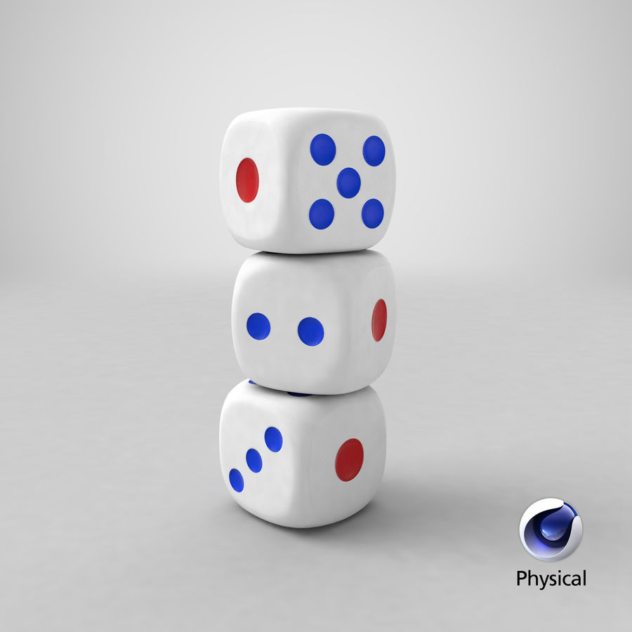 Dice royalty-free 3d model - Preview no. 23