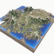 Пейзаж 3d model