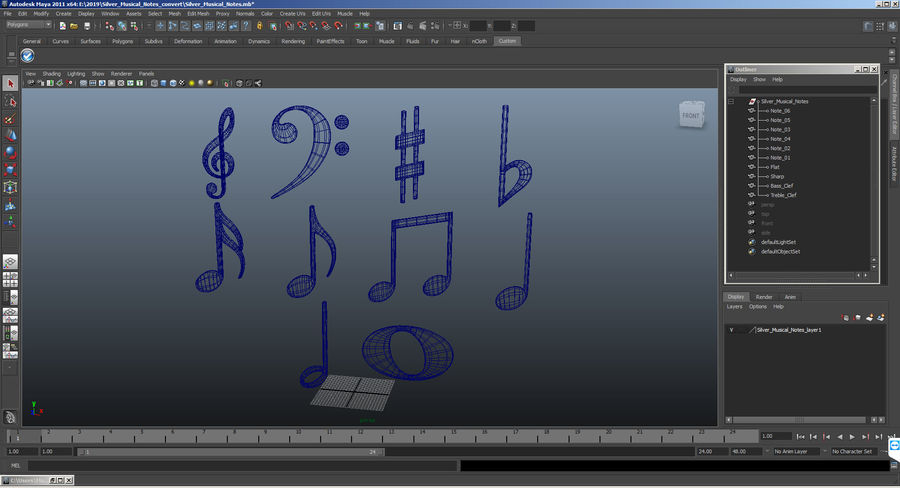 Plastic Musical Notes royalty-free 3d model - Preview no. 11