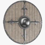 圆盾中世纪盾 3d model