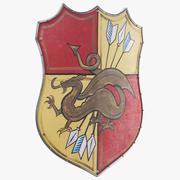 Escudo Medieval Cometa modelo 3d