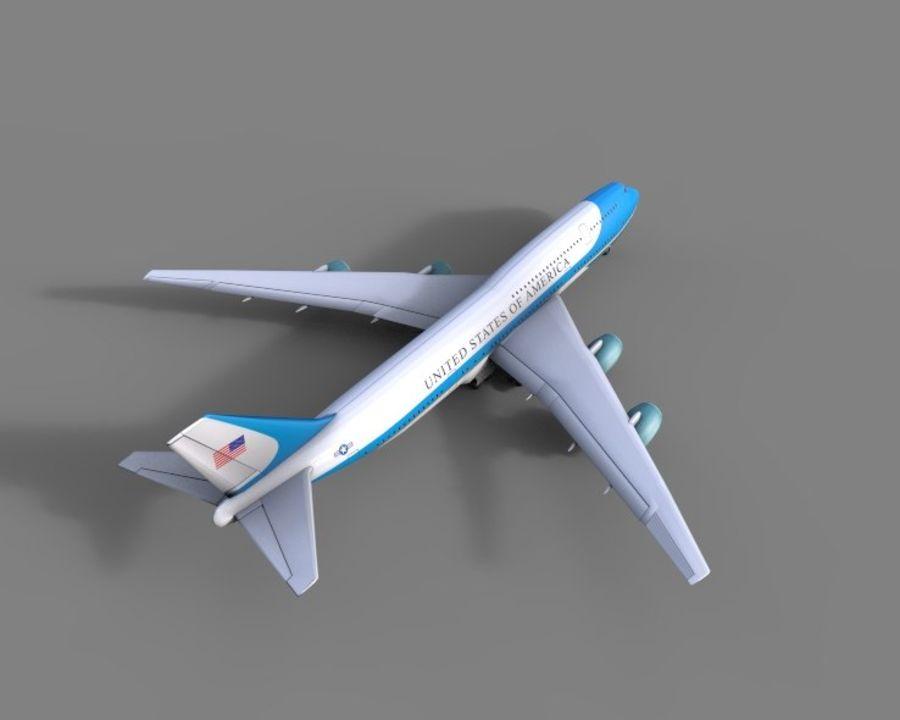 avion, avion, avion low poly royalty-free 3d model - Preview no. 5