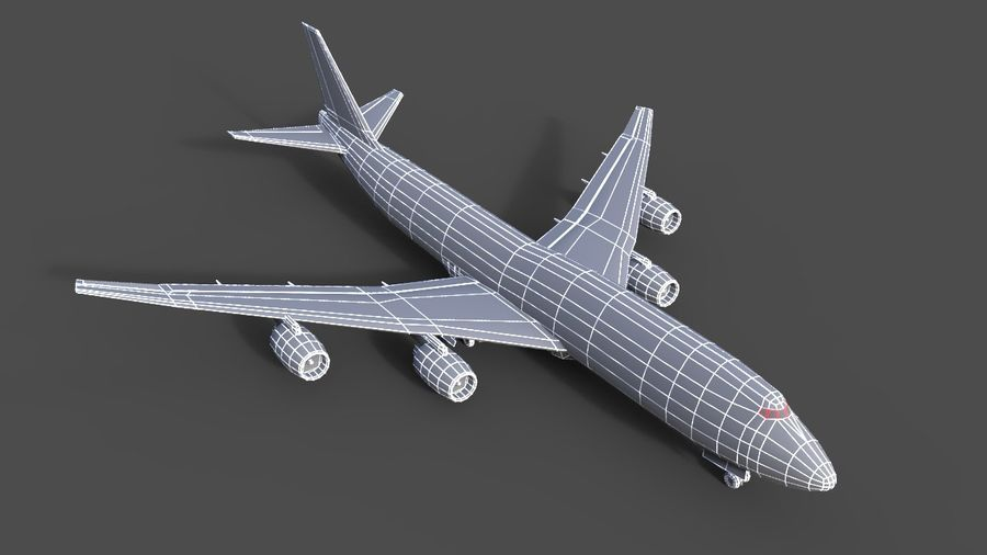 avion, avion, avion low poly royalty-free 3d model - Preview no. 6