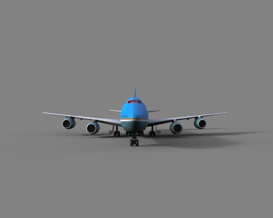 avion, avion, avion low poly royalty-free 3d model - Preview no. 2