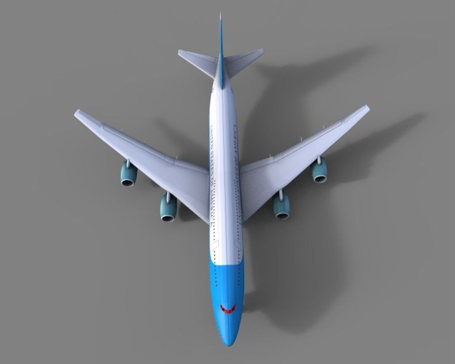 avion, avion, avion low poly royalty-free 3d model - Preview no. 3