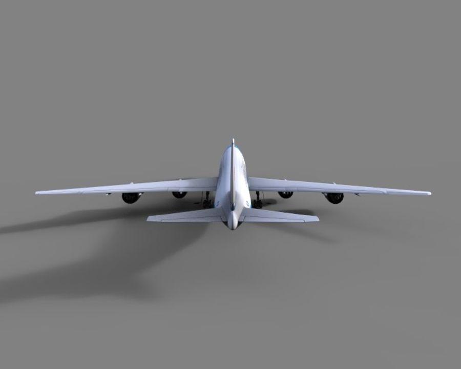 avion, avion, avion low poly royalty-free 3d model - Preview no. 4