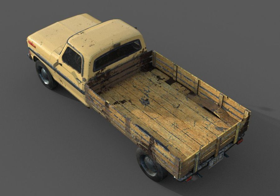 car rusty car,vehicle, jeep, low poly car royalty-free 3d model - Preview no. 5