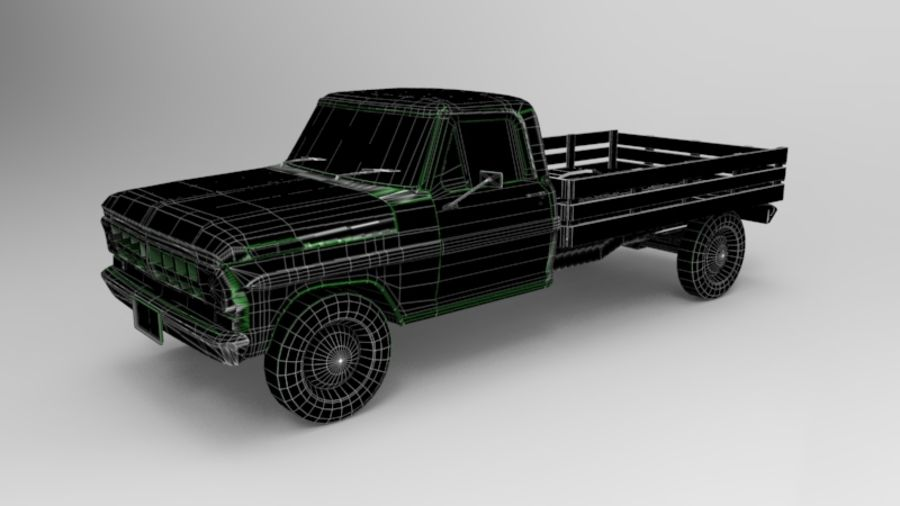 Auto rostiges Auto, Fahrzeug, Jeep, niedriges Polyauto royalty-free 3d model - Preview no. 7