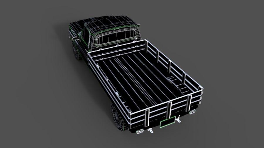 Auto rostiges Auto, Fahrzeug, Jeep, niedriges Polyauto royalty-free 3d model - Preview no. 8